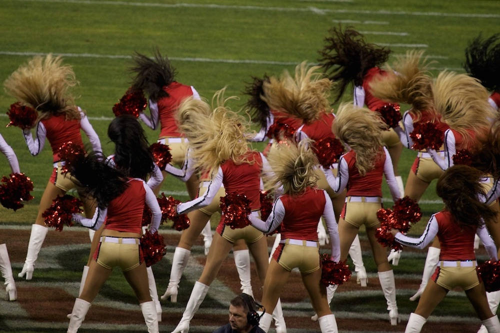 Cheerleaders for the forty-niners. San Francisco, USA.