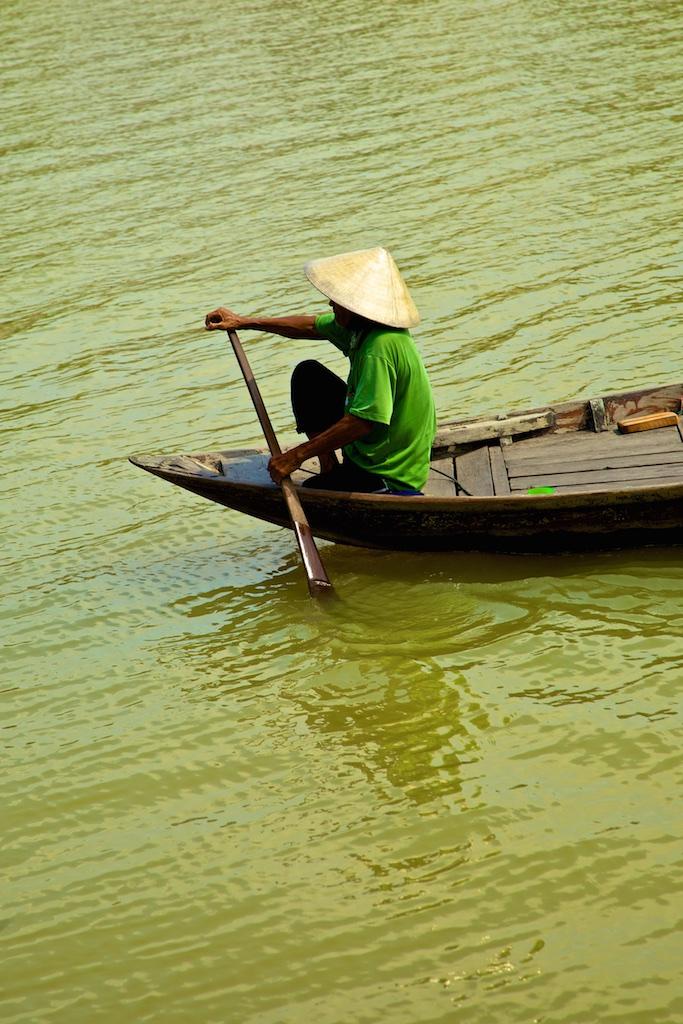 Green River paddling. Viet Nam