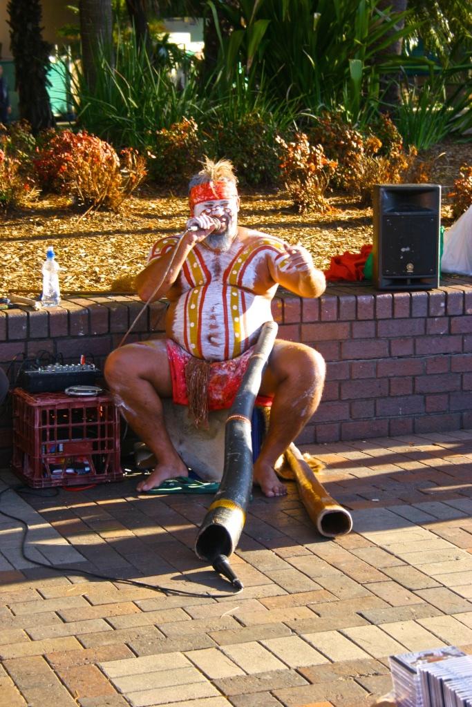 A didgeridoo master.