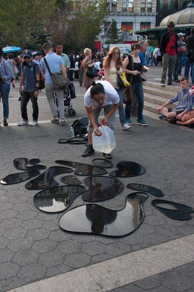 Water installation work of art.