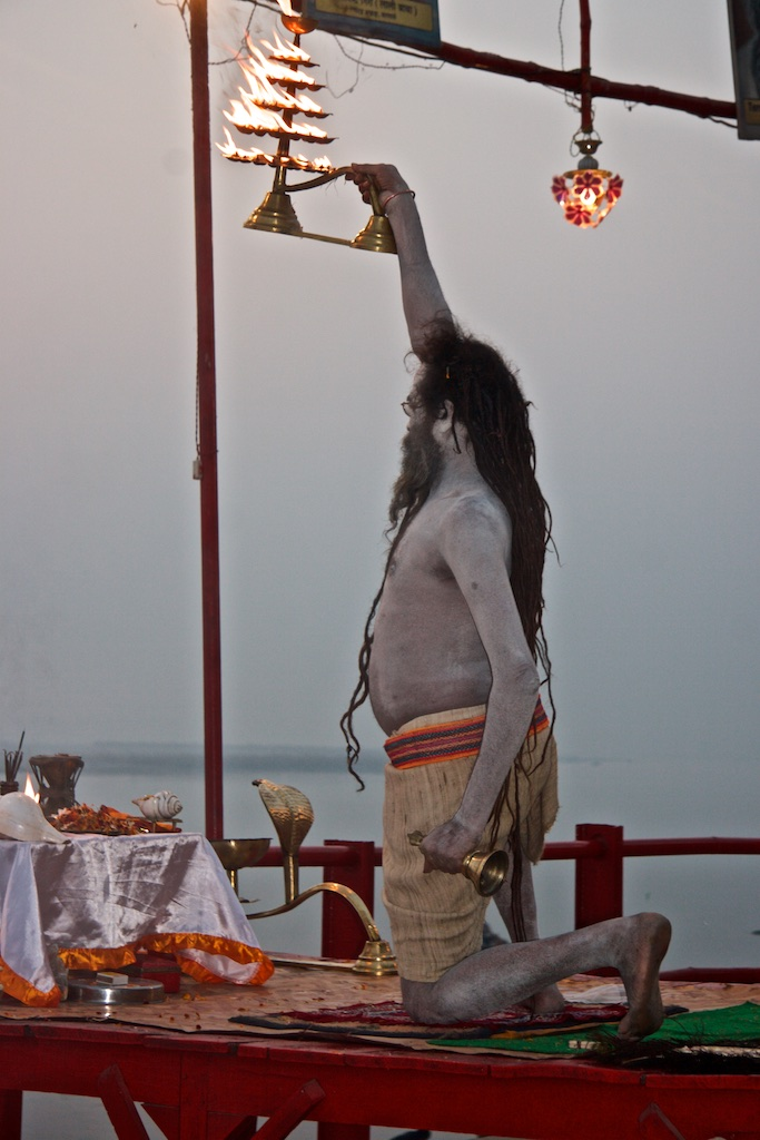 Worshipper. Varanasi, India