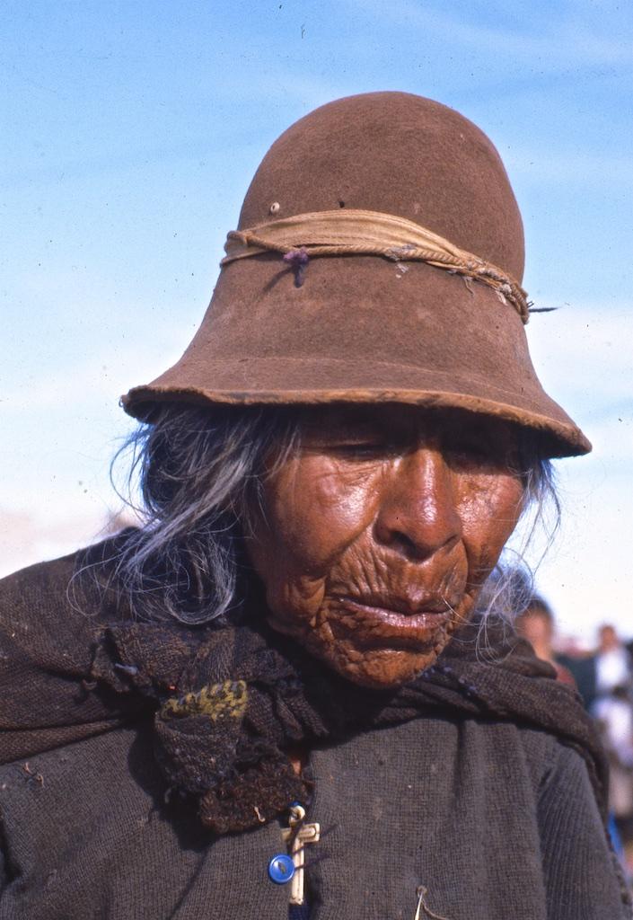 Old woman, Puno, Peru