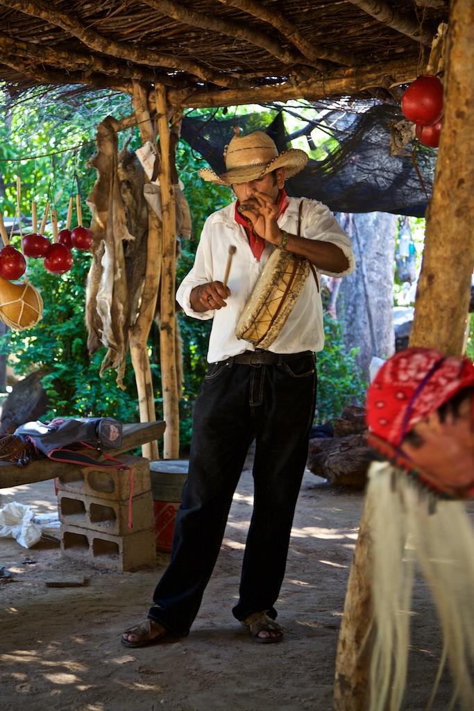 "Musician evoking ""La Danza del Venado"", Sinaloa, Mexico"