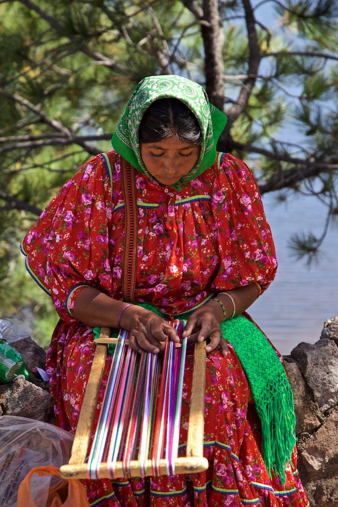 Tarahumara weaving, Barranca del Cobre, Mexico