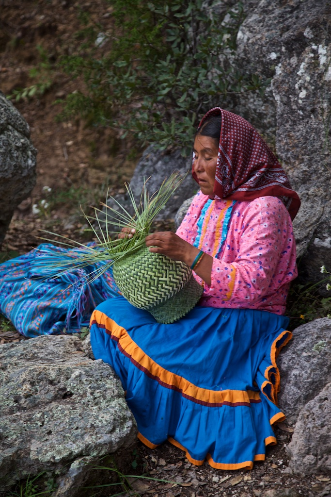Basket-making, Barranca del Cobre, Mexico
