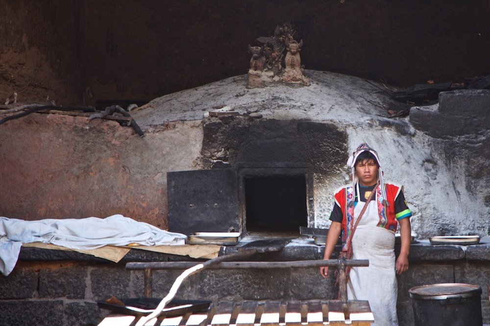- People, Customs & Crafts: The local baker in Pisac, Peru.
