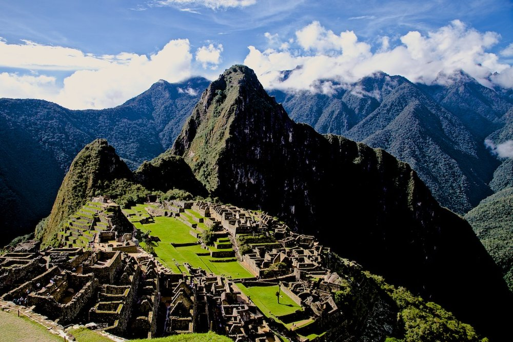 - Places & Spaces: Machu Picchu, the Inka city abandoned and lost to the jungle for 350 years, basking in the sun.