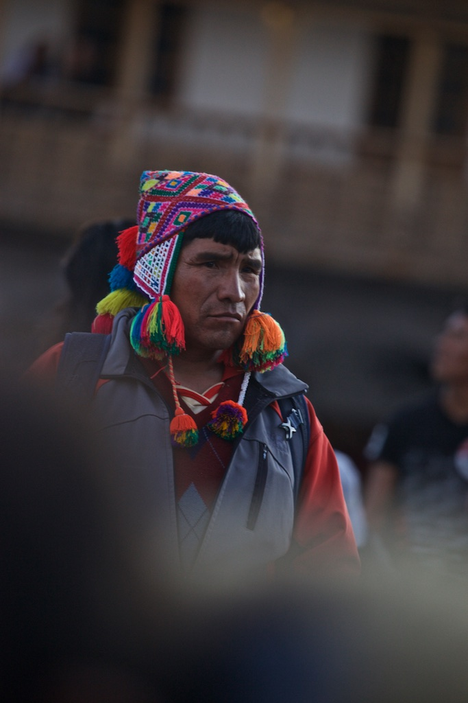- Portraits: A Peruvian local waiting for the annual feast of