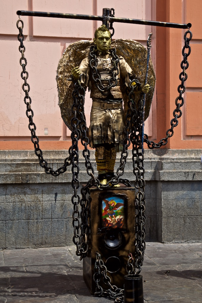 - Street Entertainment: The chain theme with religious overtures. Lima, Peru.
