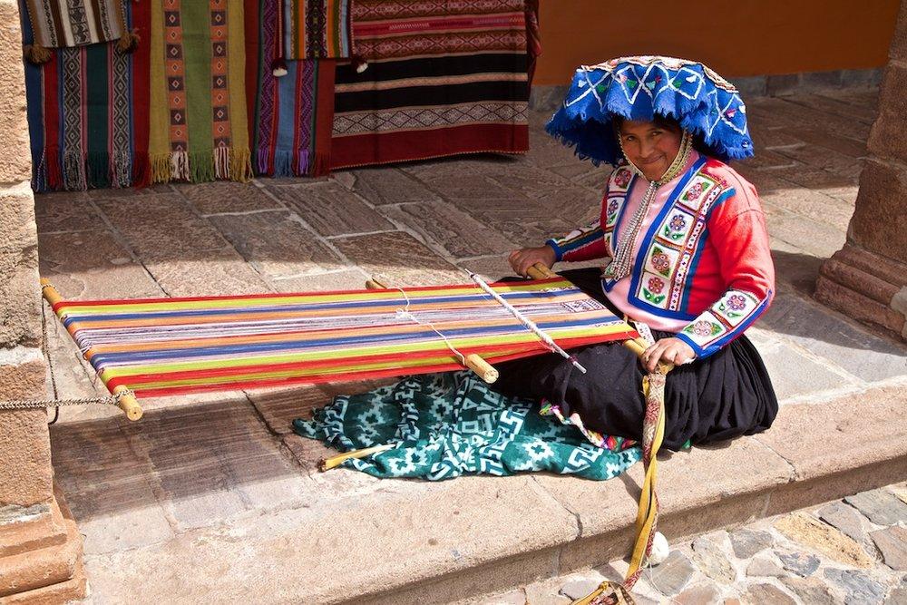 - People, Customs & Crafts: Traditional weaver Cusco, Peru