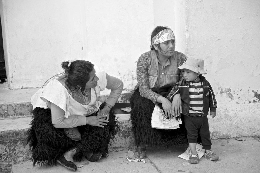 Local people in native skirts. Chiapa de Corzo, Mexico