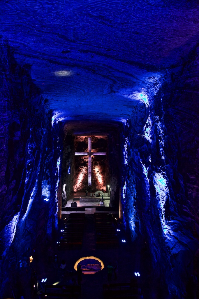 The cathedral in Zipaquirá, Colombia, hewn out in a salt mine