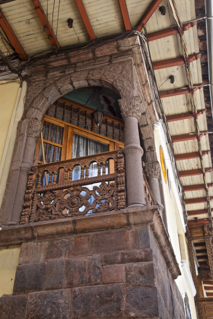 Window to a balcony, Cusco, Peru