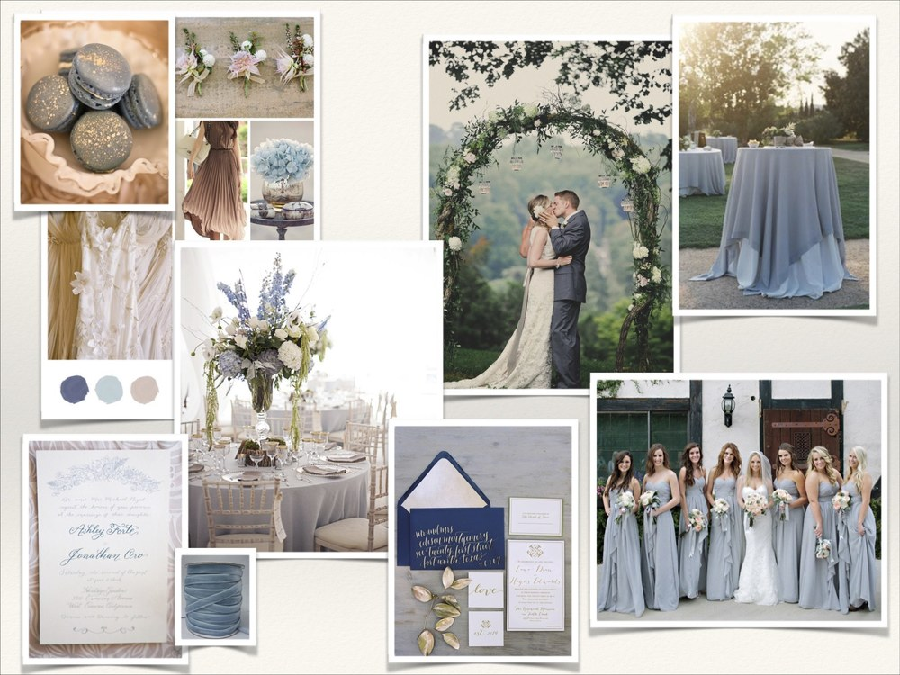 Dusty Blue Mood Board | by LLC Events