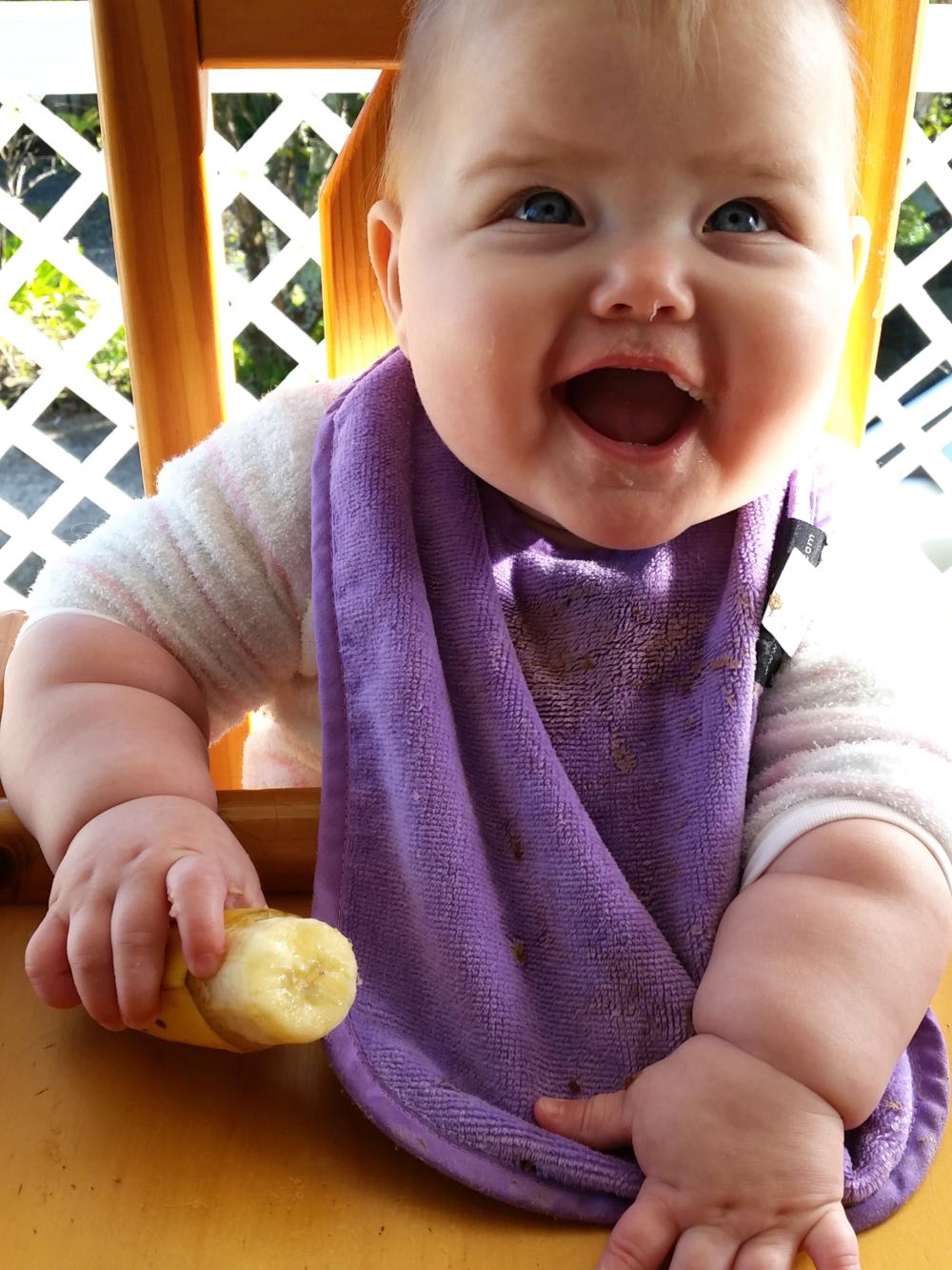 Bethany loving banana!