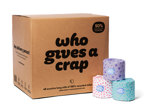 This is a weird one to recommend, but seriously this toilet paper will save you money, avoids plastic and gives toilets to people...  read more