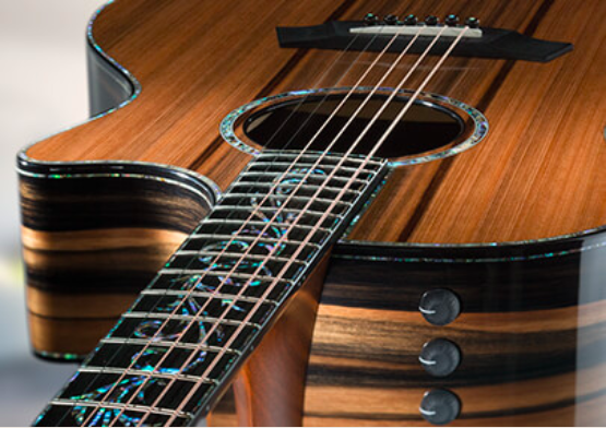 Taylor Guitar's new K24ce featuring the V-Brace System