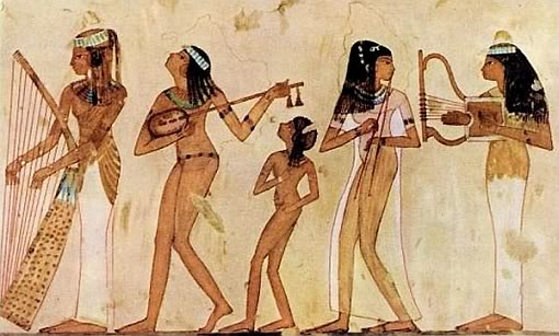 Ancient Egyptians performing Wonderwall?