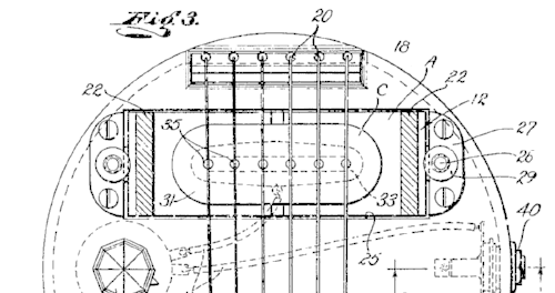 The original commercially viable single coil pickup developed in 1932