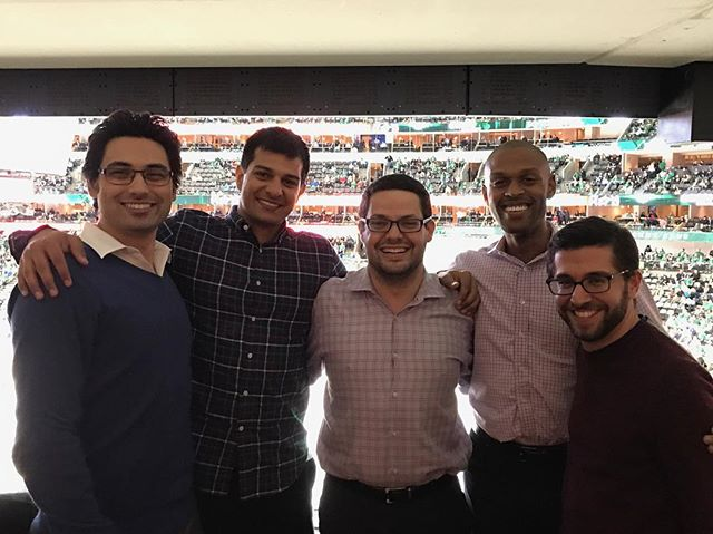 Stars game with the #squad @szshor @nbbaum @syzaidi &froggy