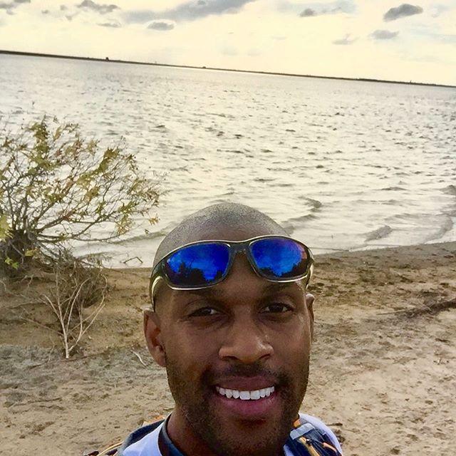 "9mi/14.5km birthday run to the ""beach"" in the Dallas 'burbs. 2nd selfie ever taken. True story."