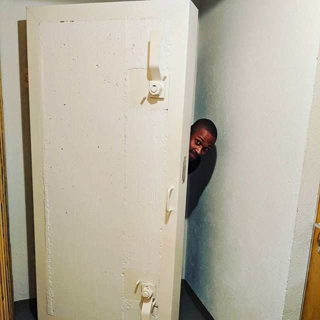 Locked in a Swiss nuclear bunker.