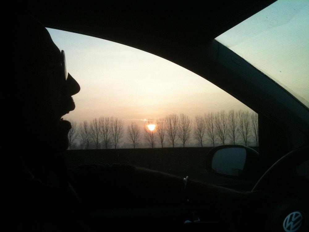 En route too Milano