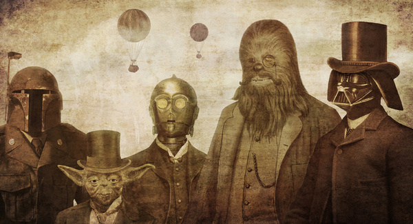 doctormonocle :      Victorian Wars Art Print by Terry Fan via Society6      Love it!