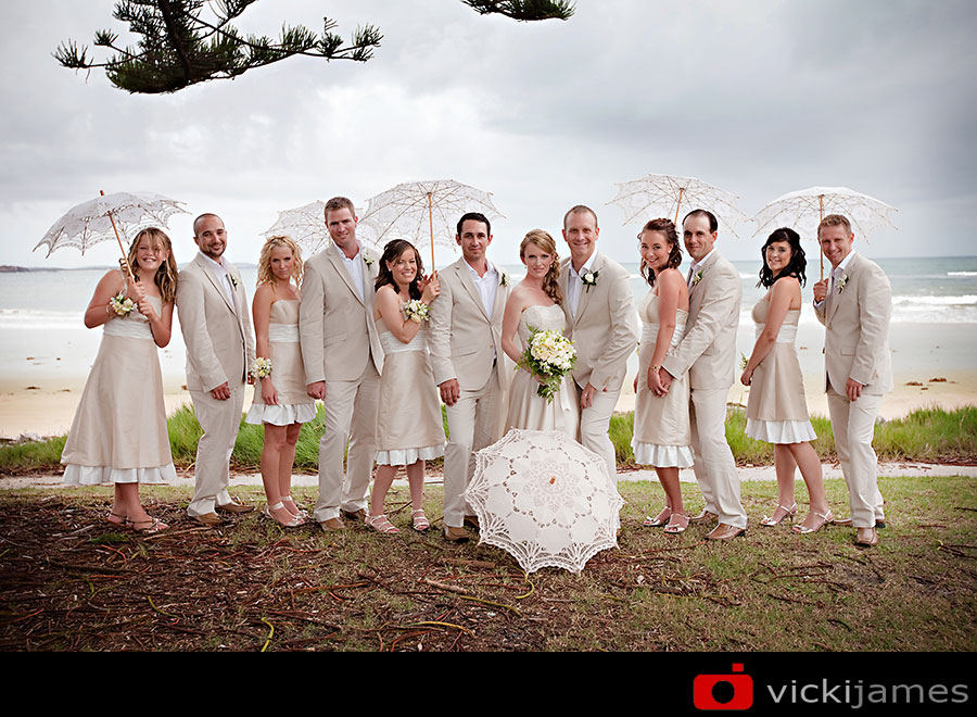 Yamba Wedding Photographer, Vicki James, Bridal Party