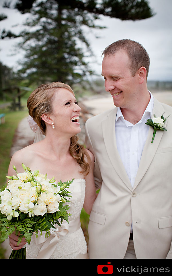 Yamba Wedding Photographer, Vicki James, Bride and Groom