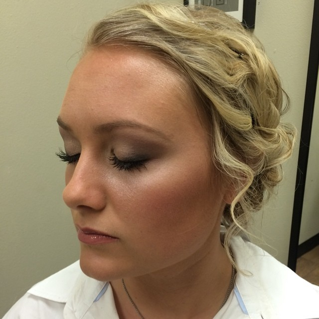 Hair and makeup for a bridal trial today #wedding #bridalmakeupandhair