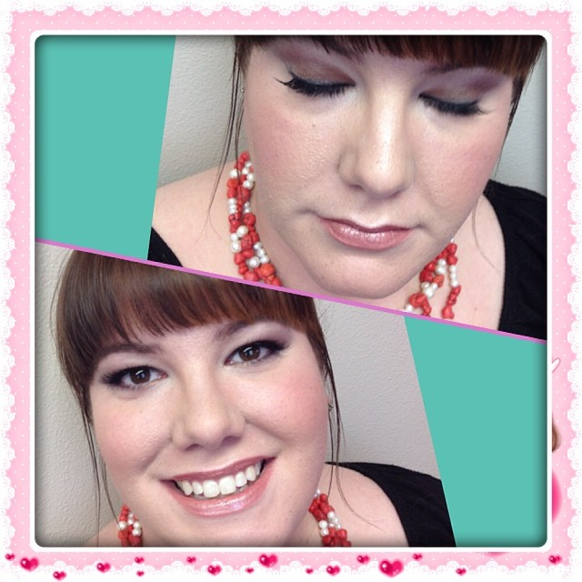 Makeup done and lashes on! #makeupartist #jenniferbradleycosmetics #instacollage