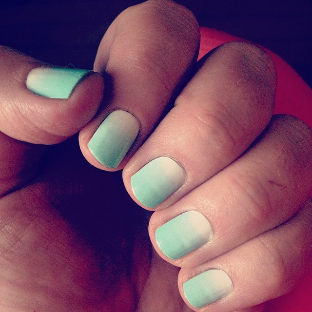 Love my new nails!! #dashingdivanails #summernails #ombre #30andcute