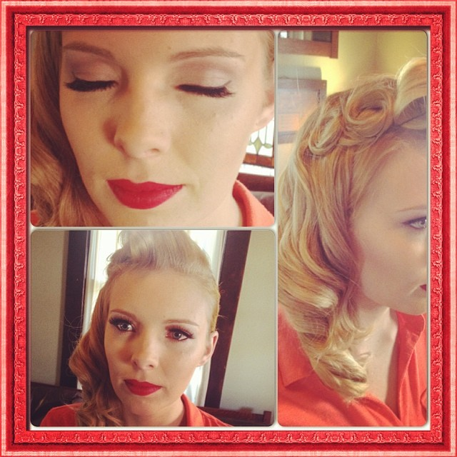 Hair and makeup for a party #Classicbeauty #vintagemakeup #retrohair #makeupartist #instacollage