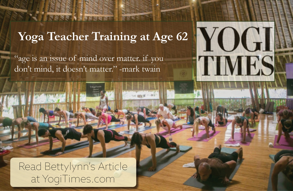 yoga teacher training at age 62 years old new hope pa