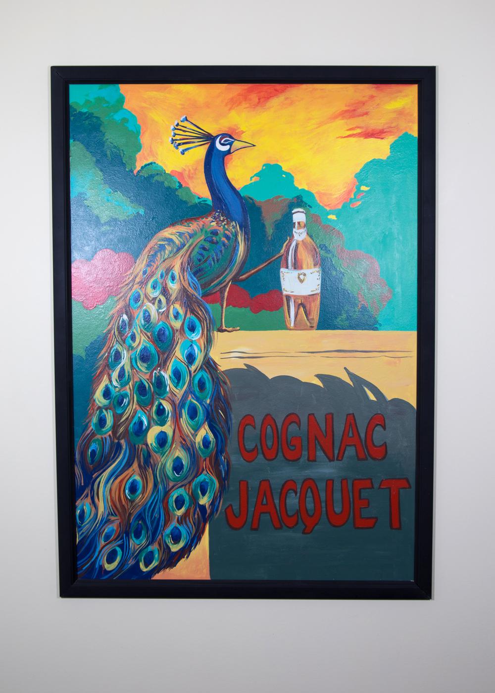 "Cognac Jacquet   2010-2011   Acrylic latex paint   27""x38""  photo by Erin Henry"