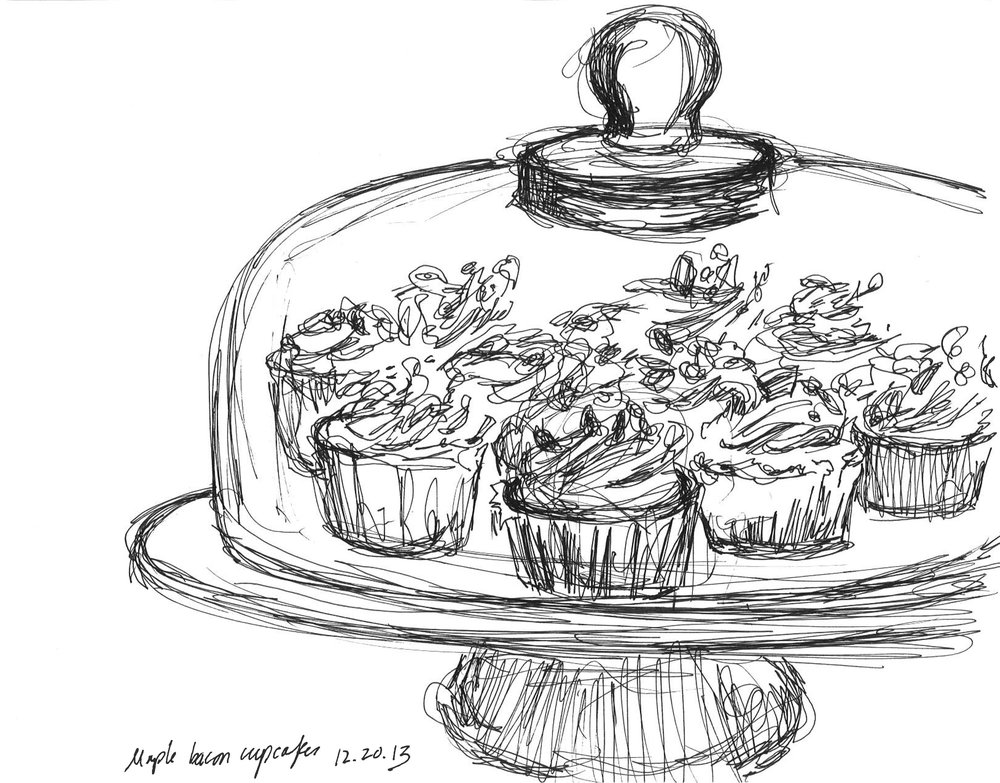 "Cupcakery   December 2013   Pen on paper   8.5""x11"""
