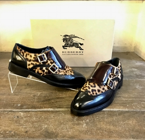 Available in our Bryn Mawr store. Call 610-519-0878 to purchase. New in box Burberry leopard loafers (size 37.5) $298.95.