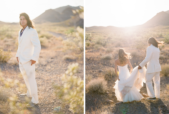las vegas simple desert outdoor wedding photographer