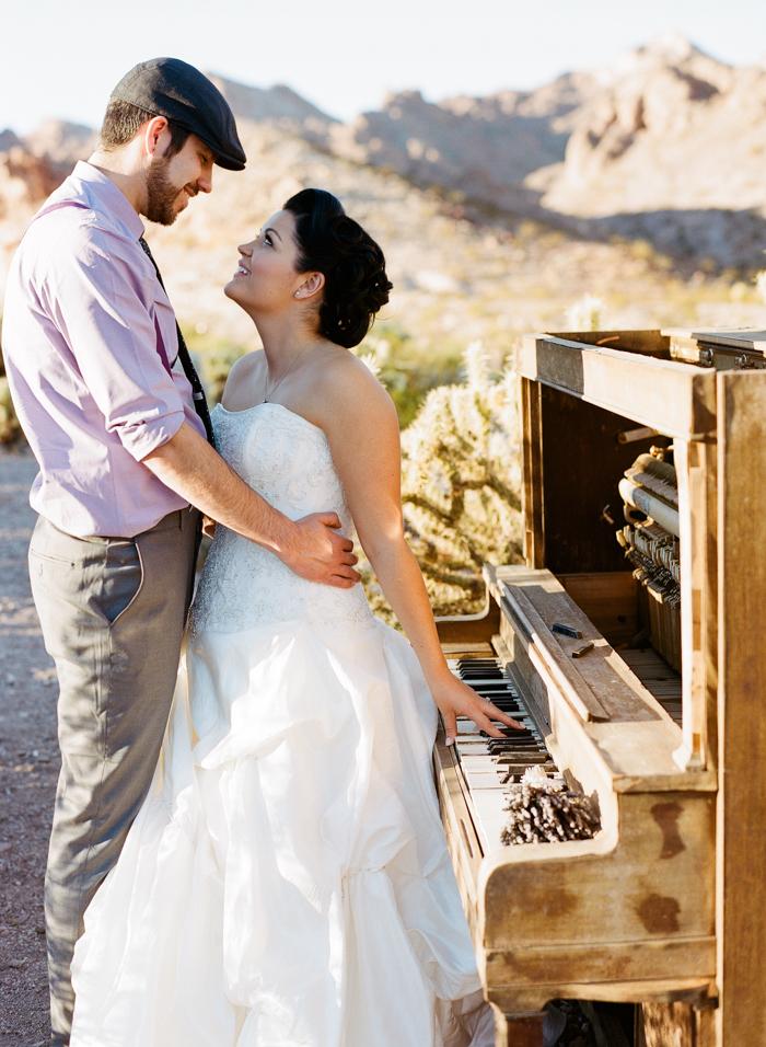 nelson landing ghost town rustic vegas wedding 16