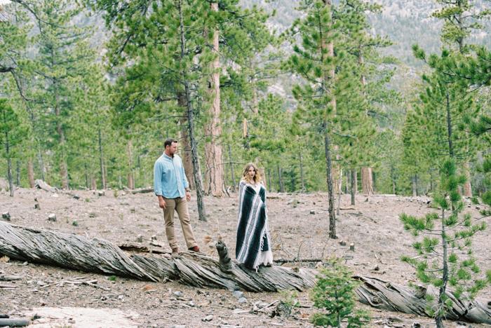 lee canyon las vegas engagement photo