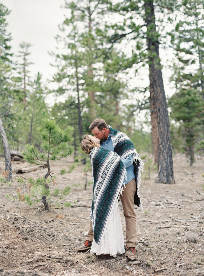mexican blanket engagement photo