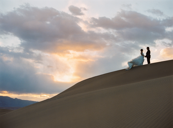 sunrise at death valley sand dunes wedding