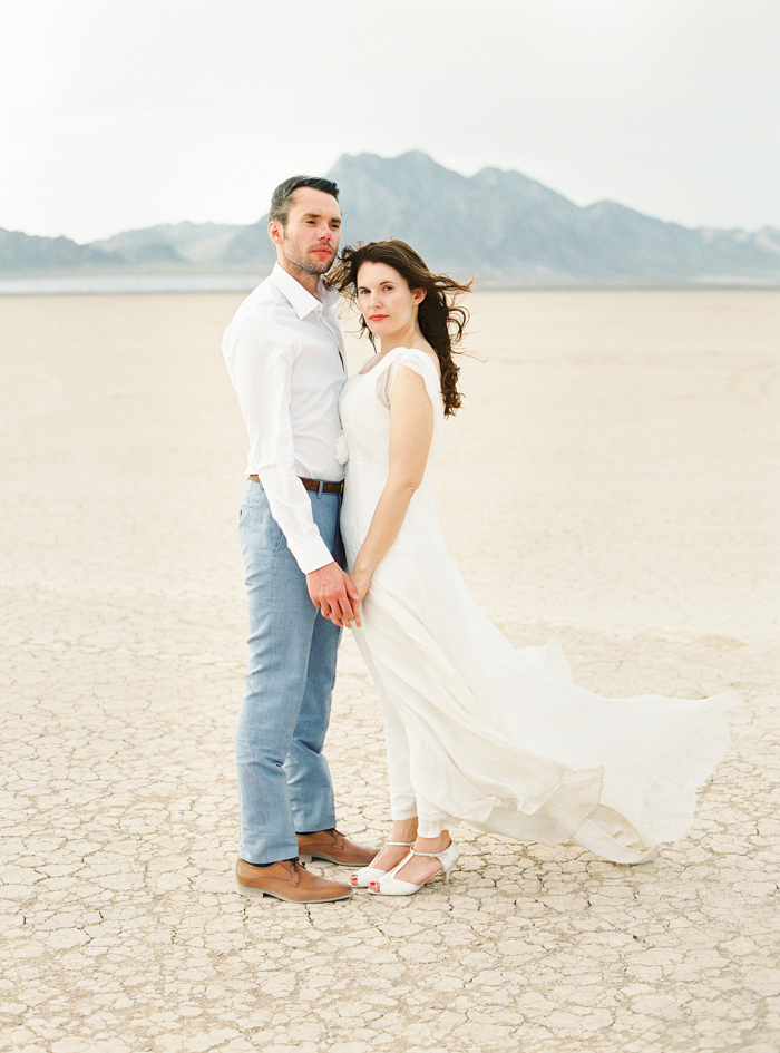 las vegas desert wedding photo dry lake beds