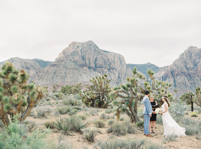 small intimate las vegas desert ceremony at red rock