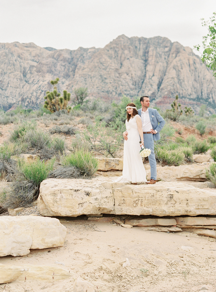 las vegas desert elopement photo