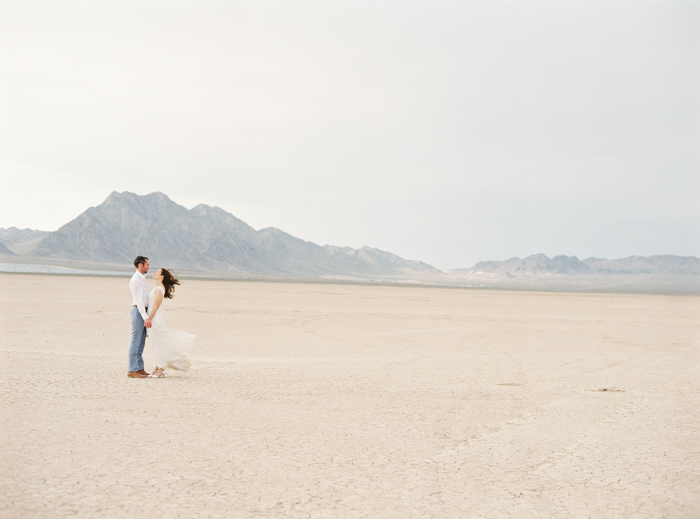 las vegas desert dry lake beds wedding photo