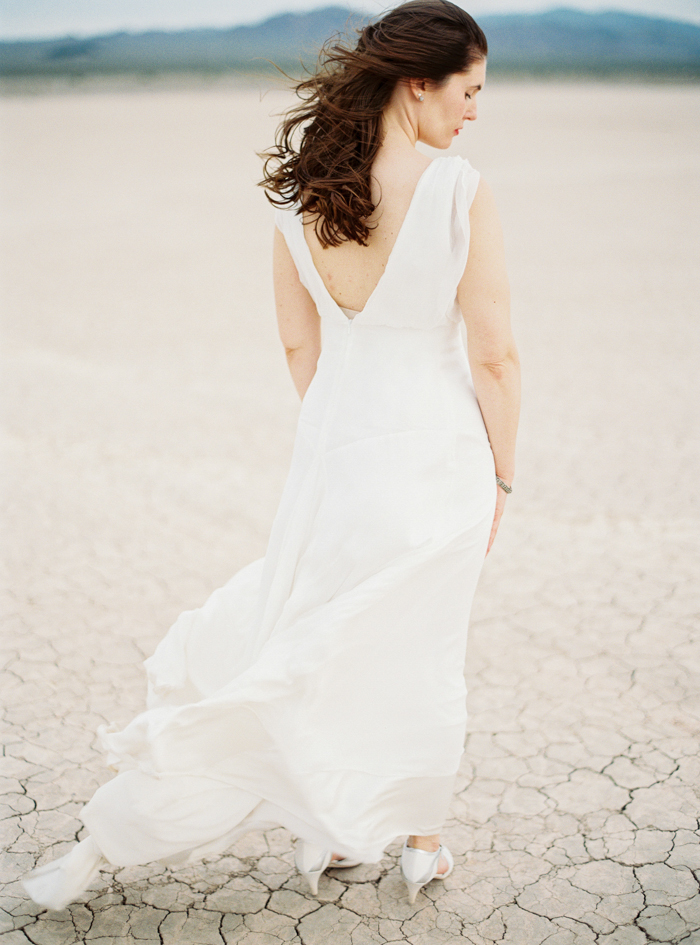 flowy wedding dress desert inspiration