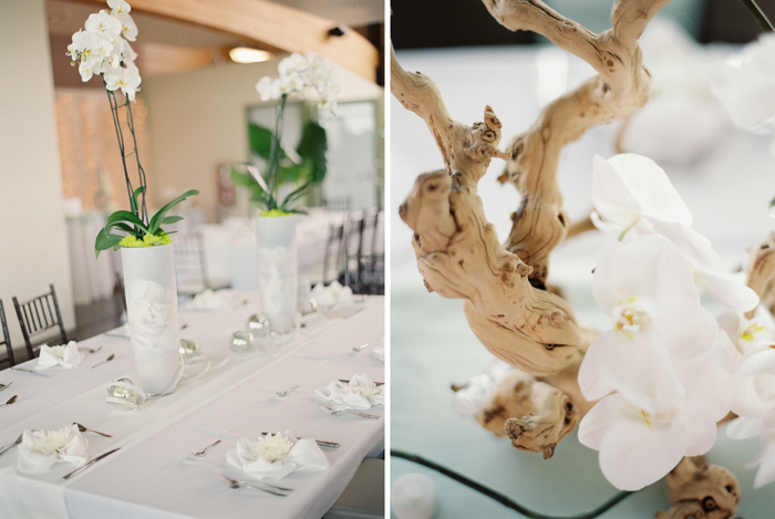 white orchids centerpieces decorations