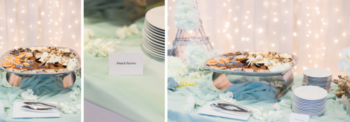 french pastries wedding reception